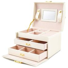 Hot Sale Jewelry box Case / boxes / makeup box jewelry and cosmetics beauty case with 2 drawers 3 layers