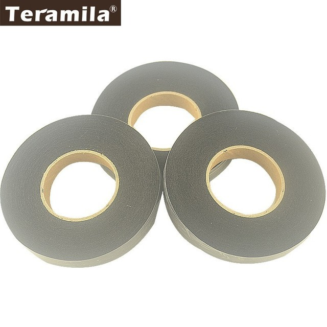 Teramila Fabric 1.5CM Width 3 Rolls Black Adhesive Double Faced Tape DIY Craft Bag Cloth Cotton Battings Synthetic Adhesive Tape