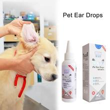 60ml Pet Cat Dog Pet Ear Cleaning Liquid Auricular Mites Killer Clean The Ear For Puppy Kitten Ear Against Infection Supplies