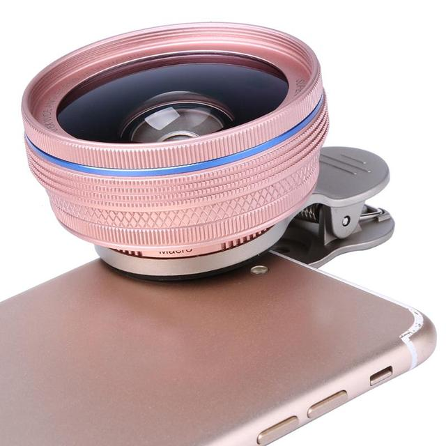 2 in 1 58mm 0.6X Wide Angle & Macro Lens Cell Phone Tablet Camera Clip External Lenses For iPhone 5S 6 6S Plus Samsung