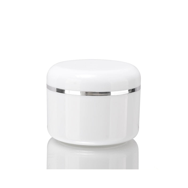 200g wide mouth ball jar lids jar package cream empty package double wall PP 200ml 7oz cosmetic jar plastic empty container