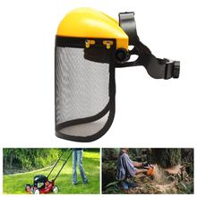 Chainsaw Safety Helmet Lawnmower Trimmer Protective Hat Forestry Visor Protection Face Mower Mask
