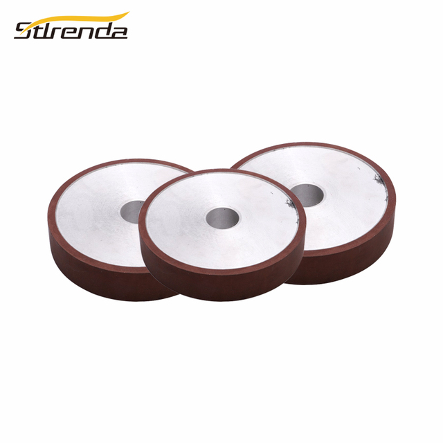 STLRENDA 100/125/150mm Parallel Resin Diamond Grinding Wheel Cup 80-600 Grit Grinding Disc Saw Blade For Rotary Abrasive Tools