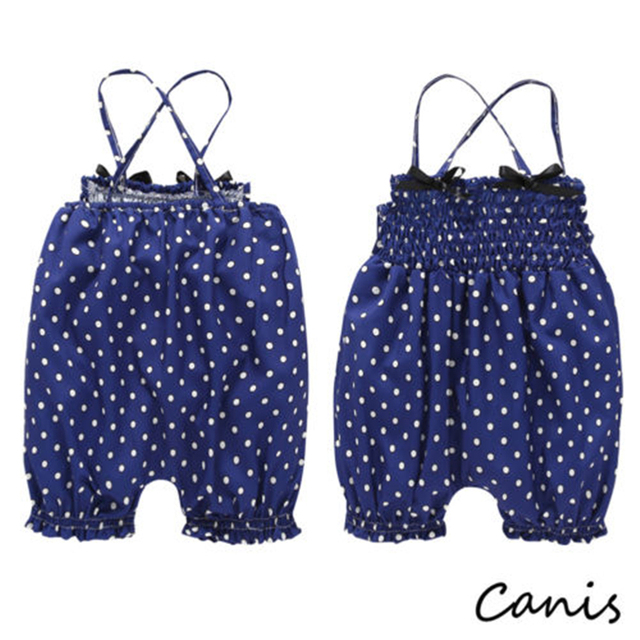 Infant Kids Baby Girl Overalls Sunsuit Jumpsuit Romper Short Pants Outfit Summer Hot New Baby Girl Clothes Dot Suspender Pant