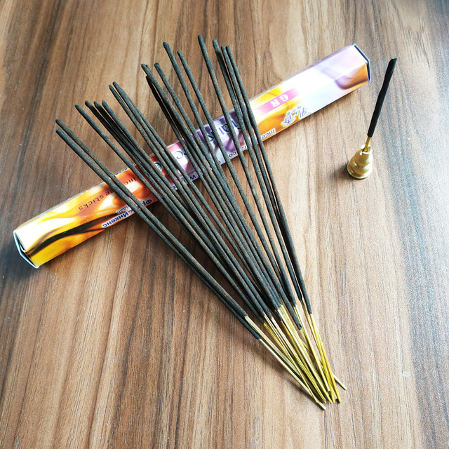 F One Pack Frank Incense Indian Handmade Stick Incense Aromatherapy Fragrance Burning In Room Office for Smell Remove Bulk Cense