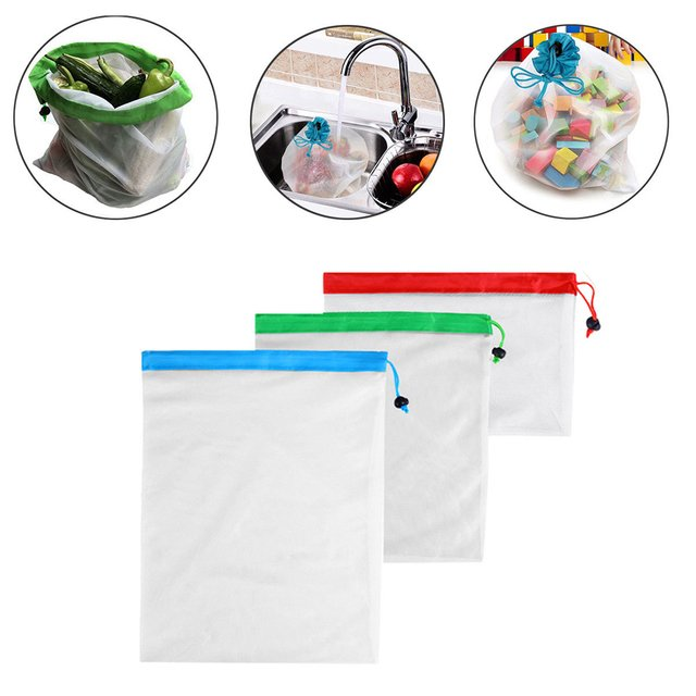 Reusable Mesh Bag Eco Friendly Bags Grocery Shopping Fruit Vegetable Toys Storage Bags Organizer