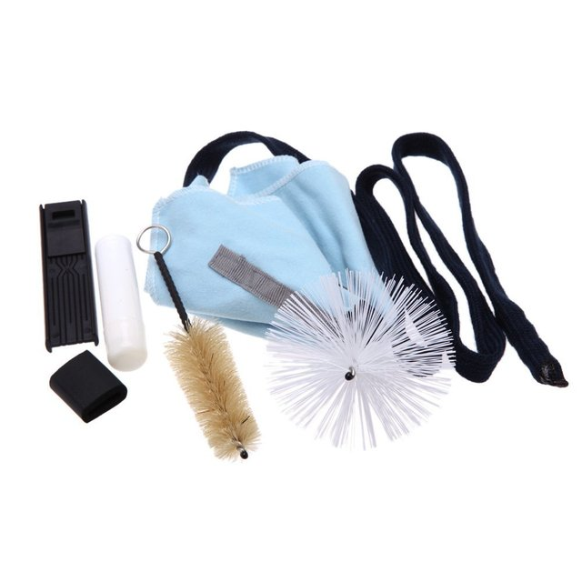 Promotion! Saxophone Cleaning Tool KitCleaning Cloth+Cork Grease+Brush+Thumb Rest+Reed Case