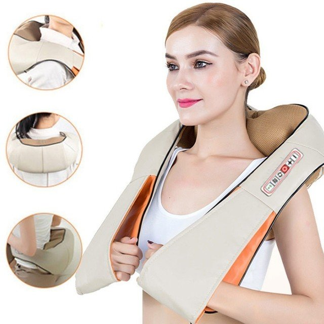 Electric Neck Shiatsu Roller Massager for Back Pain Infrared Heating  Massage Gua Sha Product Body Health Care Home Car Relax - buy inexpensively  in the online store with delivery: price comparison, specifications,