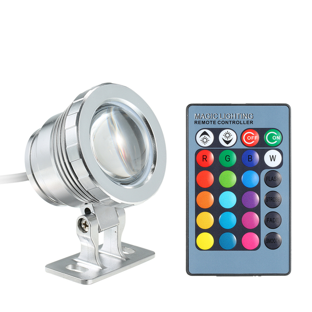 RGB LED Underwater Light Submersible Lamp with Remote Control 16 Colors Changing IP68 Water Proof Design for Pool Aquarium Pond
