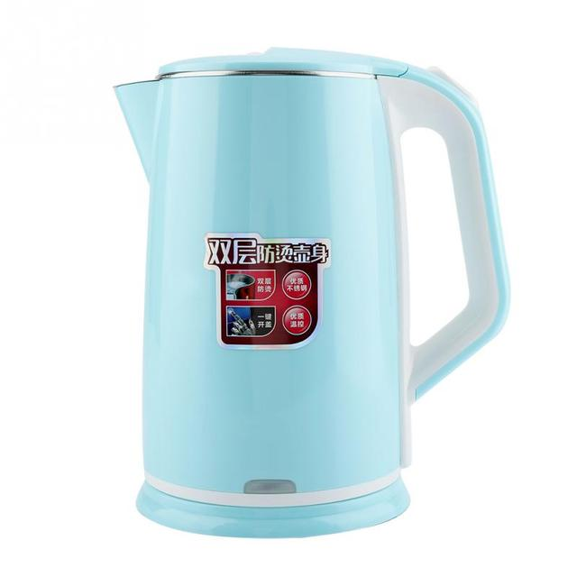 2L 220V Electric Kettle Hot Water Boiling Traveling Truck Thermal Insulation Heating Cup Car Teapot Boiler Bottle