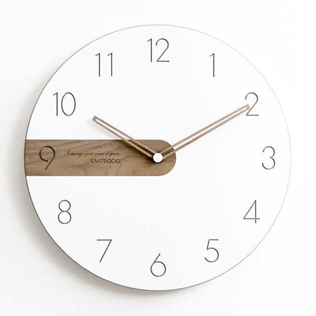 Wood Wall Clock Modern Design Living Room White Silent Home Nordic Clock Luxury Children Vinyl Wanduhr Decoration Watch C5t12 Buy Cheap In An Online Store With Delivery Price Comparison Specifications Photos