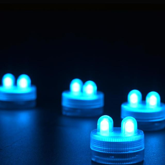 12pcs/Lot CR2032 Battery Operated Mini LED Submersible Waterproof LED Candle Tea light Floralyte for Wedding Party Event Decor