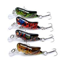 4pcs/set Bionic Plastic Fishing Lure Insect Locust Grasshopper Flying Wobbler Lure Hard Artificial Bait Fishing Tackle