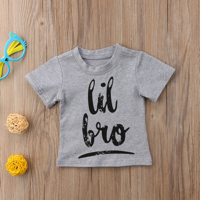 2018 New Brand Kids Toddler Baby Boy Girl Brother Sister Summer Short Sleeve Cotton Top shirt