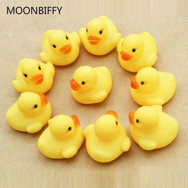 (12) A Dozen New Rubber Duck Duck Baby Shower Favors Vee Birthday Gift Free Shipping Only For You