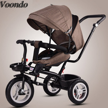 Voondo  Baby stroller bicycle multi-function tricycle suitable for 6 months - 5 years old Russian free shipping