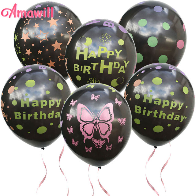 Amawill 10pcs Happy Birthday Balloons Air Balloons Birthday Party Decorations Kids Wedding Decoration Baby Shower Globos 8D