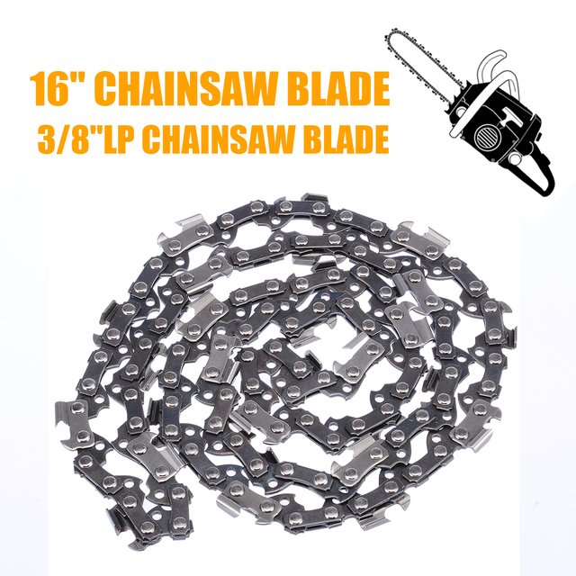 """16"""" Chainsaw Saw Chain Blade Pitch 3/8""""LP 0.050 56DL Blade Saw Chain Hardware Wood Cutting Chainsaw Parts"""