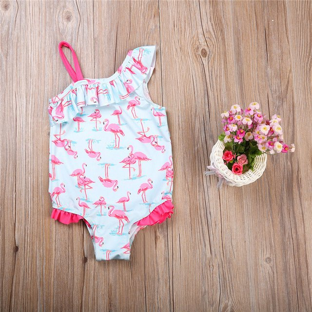 Baby Girls Kids Flamingo Bathing Suit 2018 Hot Sale Swimsuit One Piece Swimwear Bikini Sets Beachwear Swimming Suit for Children