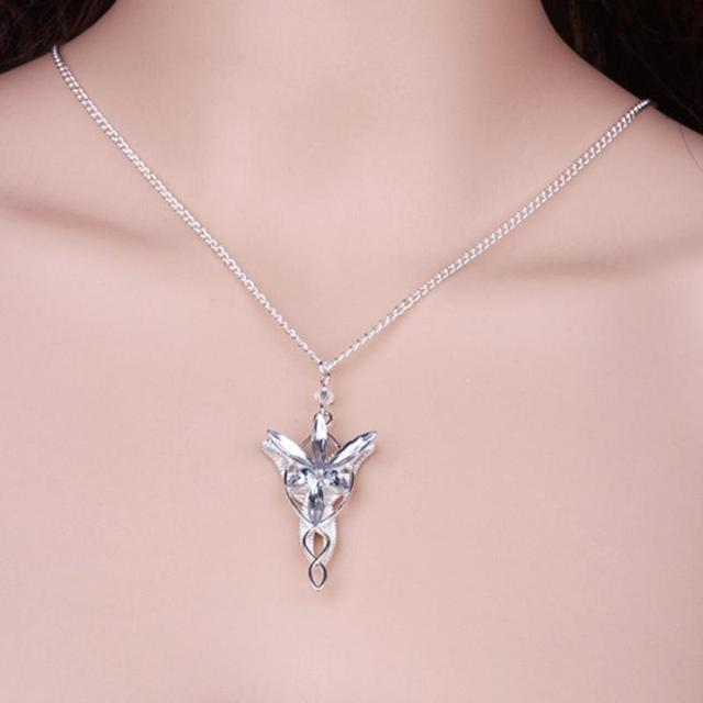1Pcs/set Hot Film Lord Of The Necklace Hobbit   Aragorn Arwen Evenstar Pendant Twilight Star Pendant Movie Jewelry