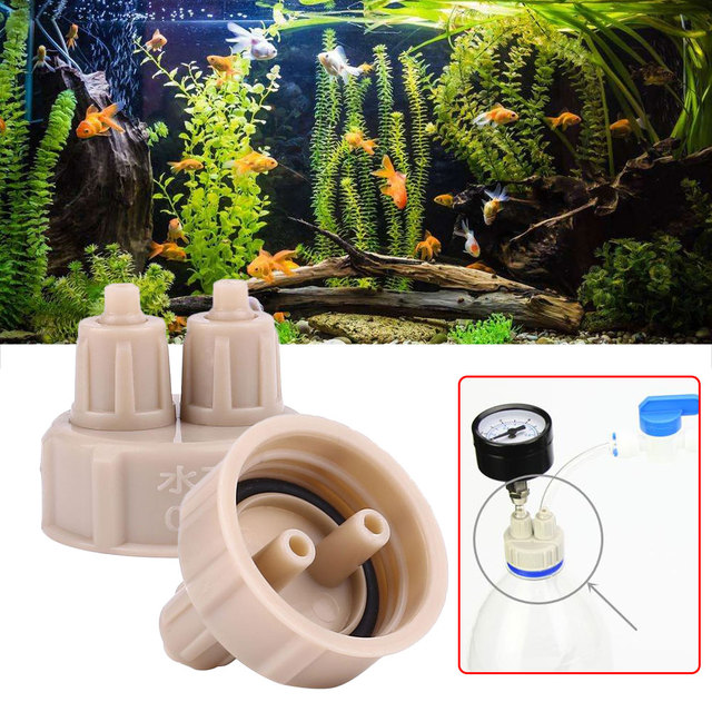 3pcs Generator Aquarium Bottle Cap CO2 Diffuser Planted Guage System for Bottle Drop Shipping Plants for fish breeding supply