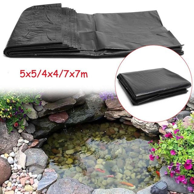 7x7m 5x5m 4x4m Hdpe Fish Pond Liner Garden Pond Landscaping Pool Reinforced Thick Heavy Duty Waterproof Membrane Liner Cloth Buy Cheap In An Online Store With Delivery Price Comparison