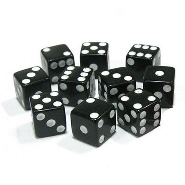 Dice Standard 10pcs Dices Gambling Game Game Accessories Square Six Sided Plastic