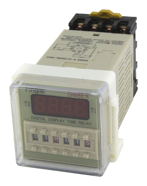 DH48S-S-2Z repeat cycle DPDT time relay with socket DH48S series AC 220V 110V AC/DC 24V 12V delay timer with base