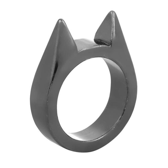 2cm Casual Wedding Silver 8inch Women 0 Golden Jewelry Black Cat Charm Fashion Ring New Ears-shaped