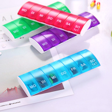 7 Day Pill Container Customized Personalized Well-organized Pill Organizer Pill Box Pill Case for Patient Senior