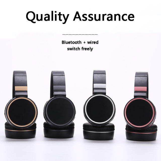 Wireless Headphones Bluetooth Headphone with Mic Support TF Card FM Radio Bass Headset for IPhone Xiaomi PC MP3