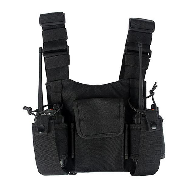 Walkie Talkie Chest Harness Chest Front Pack Pouch Holster Vest Rig Chest Bag for Motorola Baofeng TYT Wouxun Miland ICOM Radio