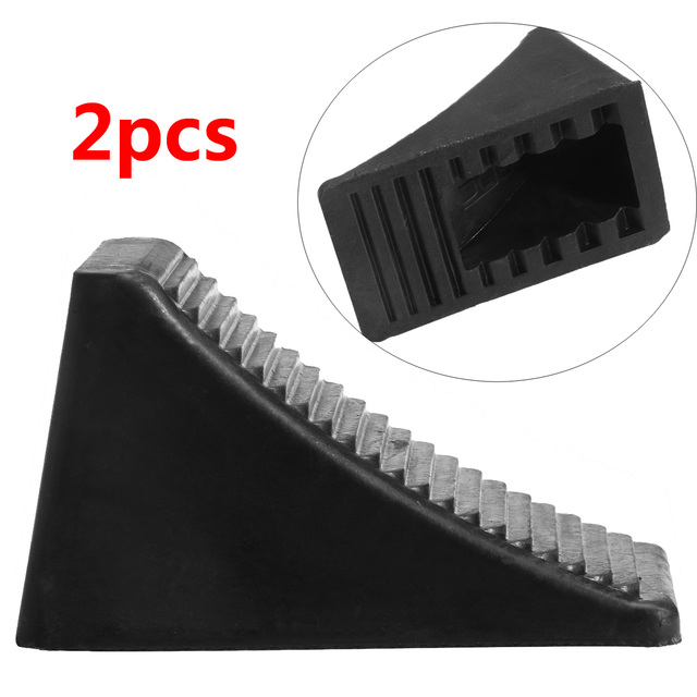 2pcs Solid Rubber Wheel Chock Mat Non-Slip Tire Anti-Skid Pad Automobile Wheel Grip Tracks Traction Mat For Car Wheels