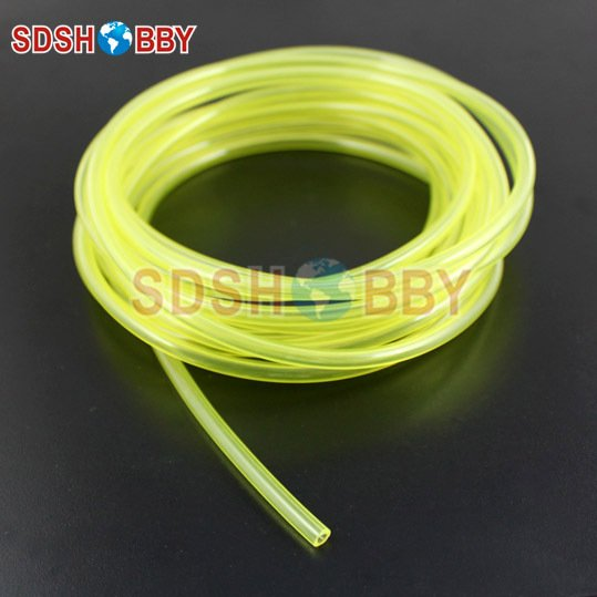 4.8*2.5mm 200 Meter Fuel Line/ Fuel Pipe for Gas Engine/ Nitro Engine -Yellow/Transparent/ Blue Color