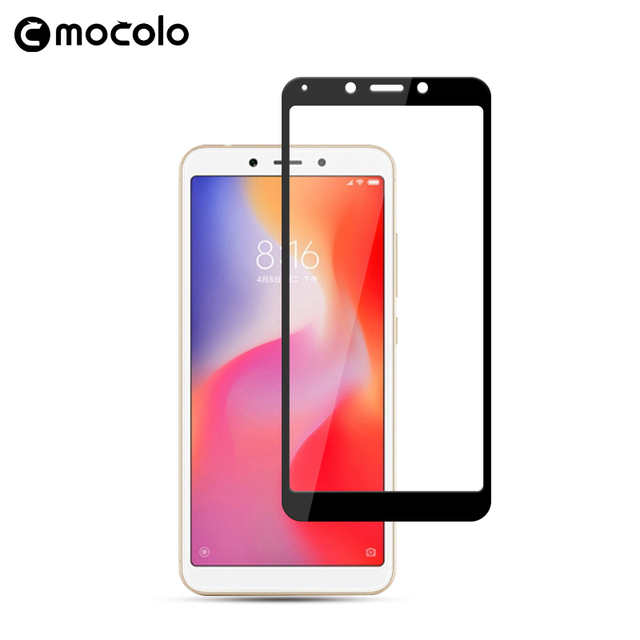 Mocolo 2.5D Curved 0.33mm Full Cover 9H Hard Screen Protector Tempered Glass For Redmi 6A Protective Glass Film For Redmi 6 Pro