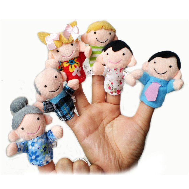 90pcs/lot 6g Plush Family finger puppets+wool Wear toys+finger doll+Christmas gifts+Baby doll+Free shipping  t