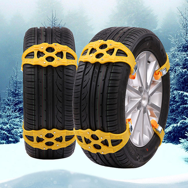 Anti-Skid Chains Vehicle Tyre Winter Driving Wheel Thickened Emergency Accessories Roadway Safety TPU 2 Colors