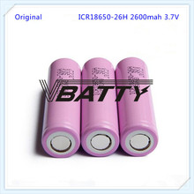 Free Shipping wholesale rechargeable lithium ion 18650 cylindrical battery 3.7V 2600mah icr18650-26hm for Samsung 26H(M)(1pc)