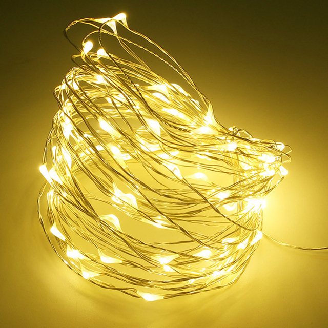 LED String lights 5M 10M 50/100led 5V USB powered outdoor Warm white/RGB copper wire Xmas wedding Christmas party decoration