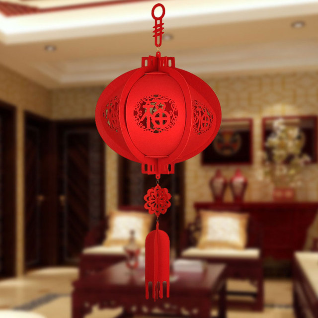 Non-Woven Fabric 30cm Home Decoration Chinese Red Lantern Ornaments Chinese Lantern Traditional Gift Lucky Lantern