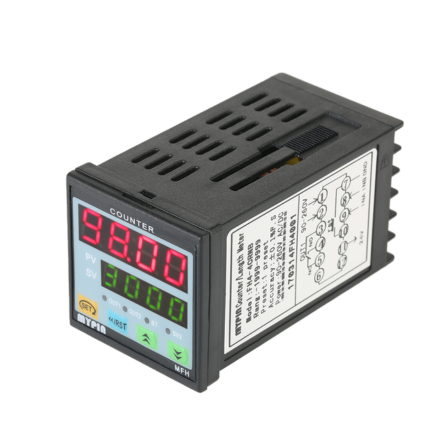 MYPIN 90-260V AC/DC Preset 4 Digital Counter Multi-purpose Length Counter Intelligent Length Meter machine Relay Output PNP NPN