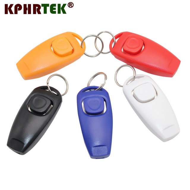 Dog Pet Click Clicker Training Trainer Aid Whistle