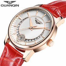 relogio feminino GUANQIN Women Watches Luxury Brand Fashion Casual Date Clock Ladies Dress Leather Strap Waterproof Quartz Watch