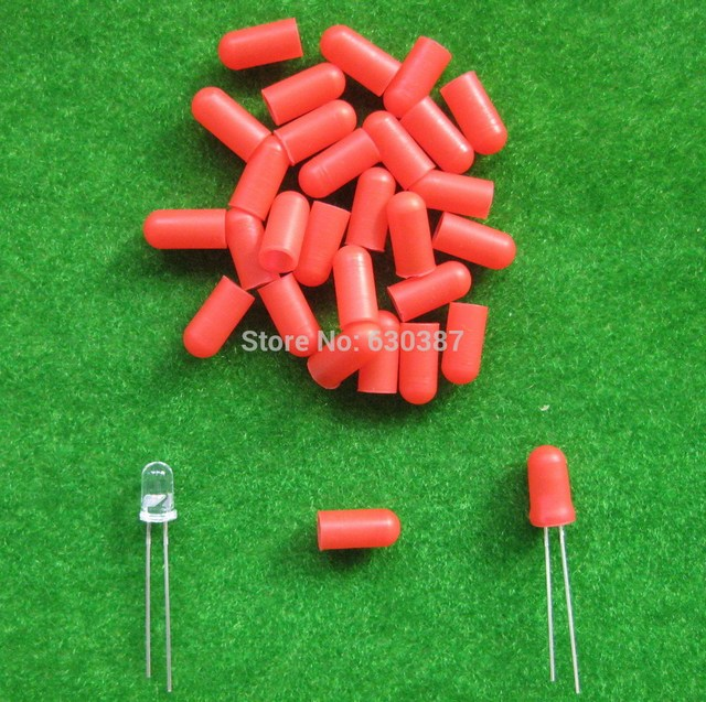 XPT02R Red Caps / Covers for 5mm Grain of Wheat Bulbs LEDs NEW