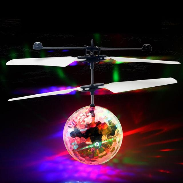 LED Magic Flying Ball Colorful Stage Lamp Helicopter Infrared Induction LED Flying Ball Flash Disco Kids Children Flying Toys