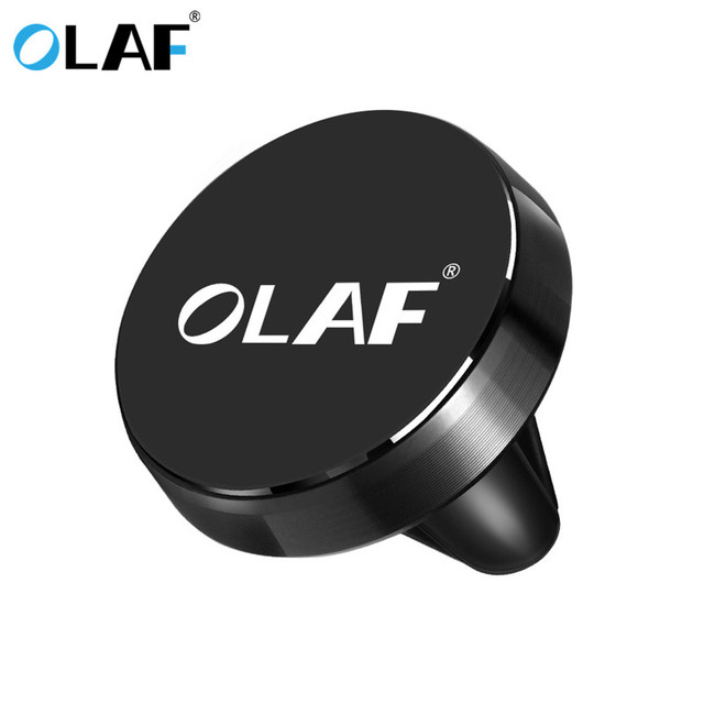 OLAF Car Phone Holder Magnetic Air Vent Mount Mobile Smartphone Stand Magnet Support Cell Cellphone Telephone Desk Tablet GPS