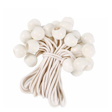 10pcs Elastic Rope White Hiking Fixing Band Tent Cord Fastener Bondage Ropes Practical Camping Durable Sport Outdoor Supplies