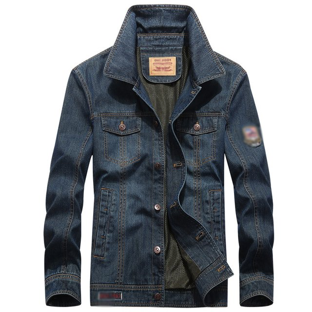Free Shipping New Autumn Men Denim Jacket Coat Turn Down Collar Long Sleeve Single Breasted Jeans Outwear Casual Jeans Blouse