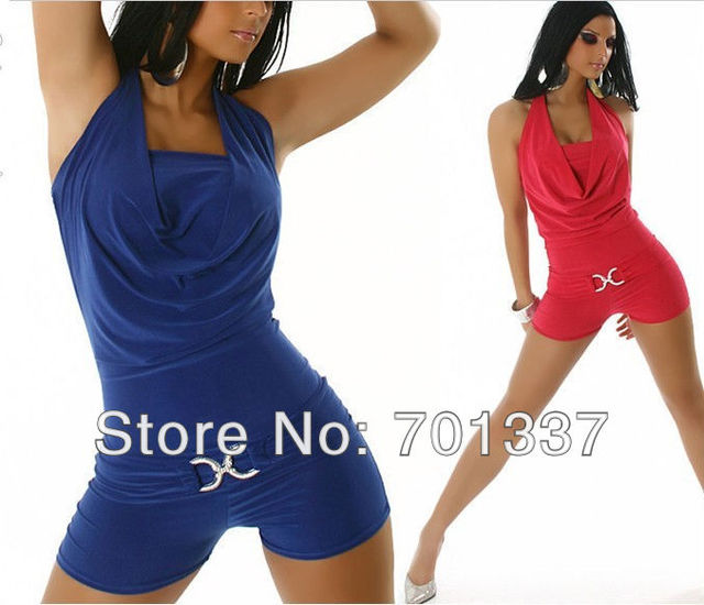 2 Colors Sexy lingerie jumpsuit  Club Wear Dance Party Dress Evening Dress M080