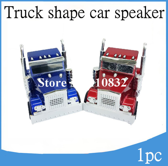 portable AN-T6 speakers Truck Shape Music mini Car speaker with FM radio function support TF card Udisk free shipping 1pcs cheap